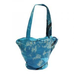Dámská batikovaná taška Paint modrá 35 x 40 cm