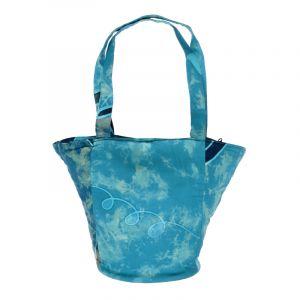 Taška batikovaná Paint modrá