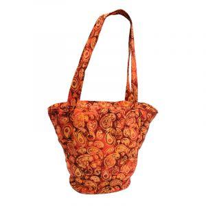 Dámská batikovaná taška Paisley červená 35 x 40 cm | SoNo spol. s r.o.