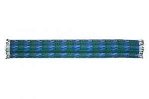Dámská šála Zigzag 190 x 30 cm zeleno-modrá