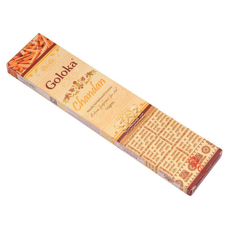 Goloka Masala Chandan - Santal indické vonné tyčinky 15 g