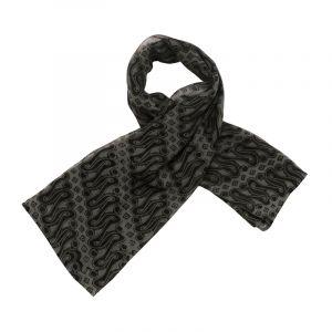 Šátek hedvábí 100 x 100 Parang černý šifon