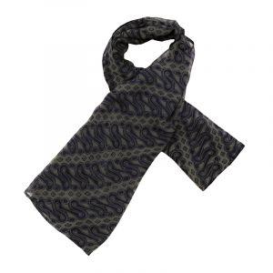 Šátek hedvábí 100 x 100 Parang modrý šifon