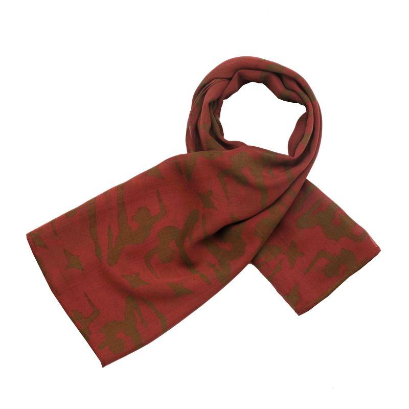 Hedvábný šátek 100 x 100 cm Jogini vínový šifon