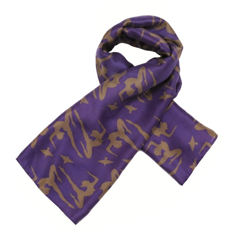 Hedvábný šátek 120 x 110 cm Jogini fialový | SoNo spol. s r.o.