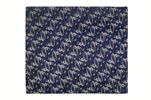 Hedvábný šátek 120 x 110 cm Jogini modrý
