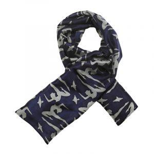 Šátek hedvábí 120 x 110 Jogini modrý