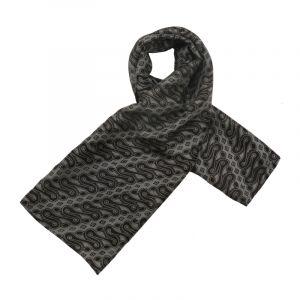 Šátek hedvábí 120 x 110 Parang černý