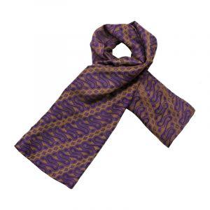 Šátek hedvábí 120 x 110 Parang fialový
