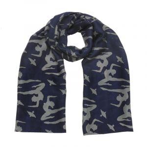 Šátek hedvábí 150 x 50 Jogini modrý II