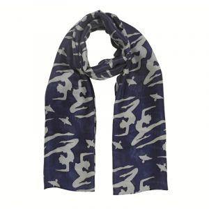 Šátek hedvábí 150 x 60 Jogini modrý II