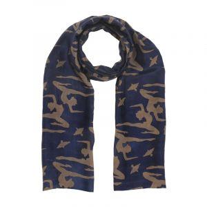 Šátek hedvábí 150 x 60 Jogini modrý