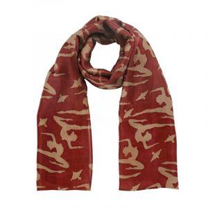 Šátek hedvábí 150 x 60 Jogini vínový