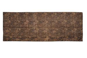 Hedvábný šátek 150 x 60 cm Květy černý | SoNo spol. s r.o.