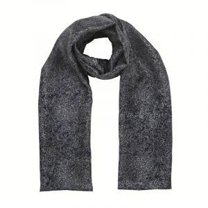 Šátek hedvábí 150 x 60 Květy modrý II