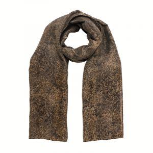 Šátek hedvábí 150 x 60 Květy černý