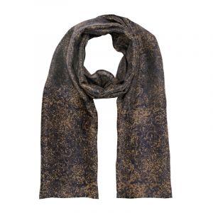 Šátek hedvábí 150 x 60 Květy modrý