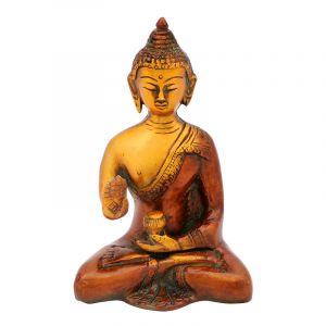 Soška Buddha kov 14,5 cm patina