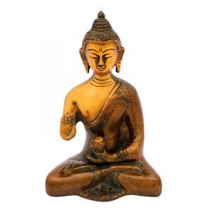 Soška Buddha kov 14,5 cm