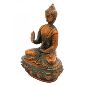 Kovová soška Buddha 15 cm patina | SoNo spol. s r.o.