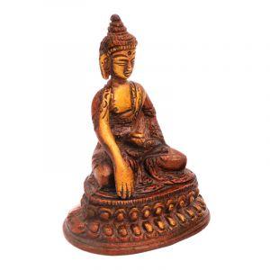 Kovová soška Buddha 9,5 cm patina hnědá   SoNo spol. s r.o.