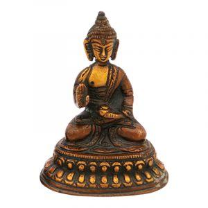 Soška Buddha kov 09,5 cm patina