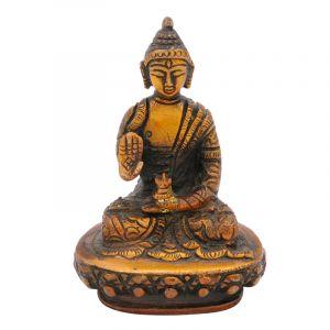 Soška Buddha kov 09 cm zdobená