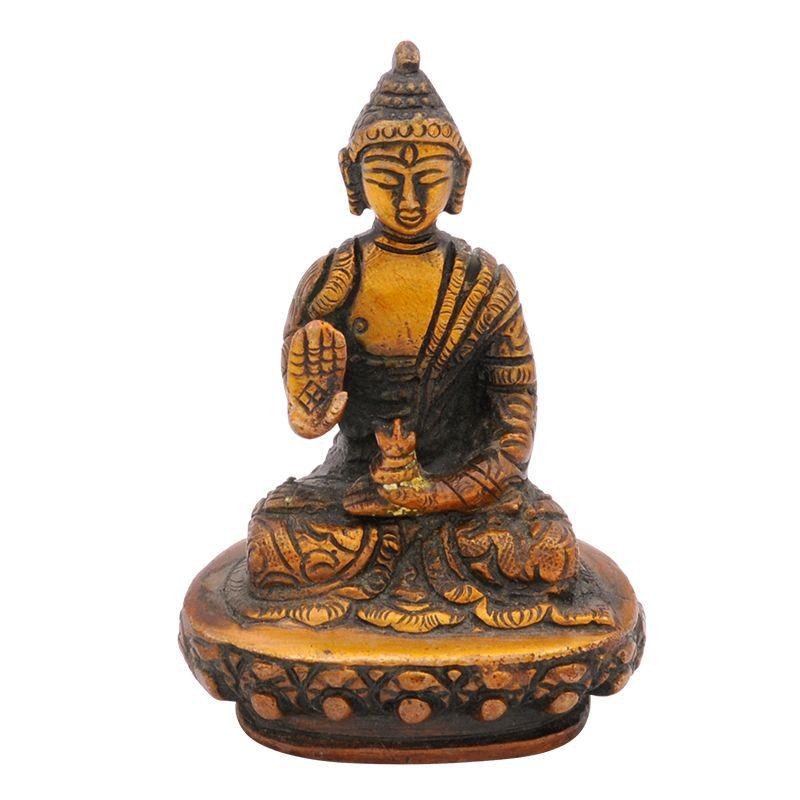 Kovová soška Buddha 9 cm zdobená