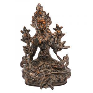 Kovová soška Tara 20,5 cm patina antik