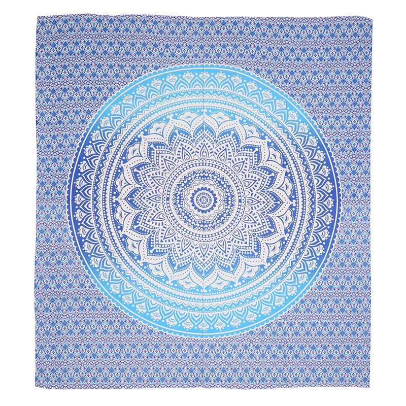 Přehoz na postel Blue lotos modrý 240 x 200 cm