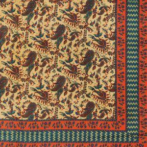 Indický přehoz na postel Paisley oranžový 235 x 205 cm | SoNo spol. s r.o.