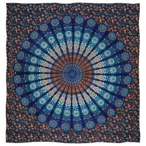Přehoz Peacock modrý 220 x 200 cm