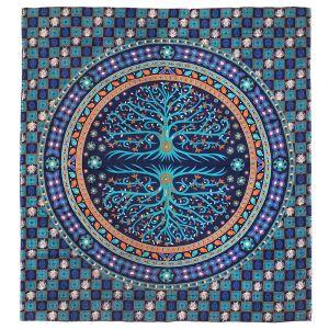 Přehoz Strom modrý 220 x 200 cm