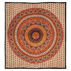 Přehoz Mandala Star oranžový 225 x 205 cm