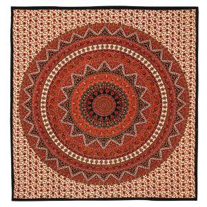 Přehoz Mandala Star vínový 225 x 205 cm