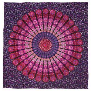 Přehoz Peacock fialový 225 x 205 cm