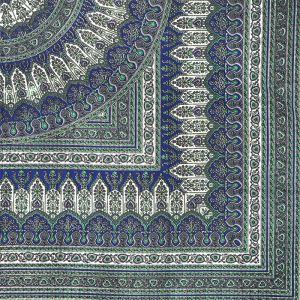 Indický přehoz na postel India Floral modrý 220 x 205 cm | SoNo spol. s r.o.