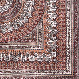 Indický přehoz na postel India Floral béžový 220 x 205 cm