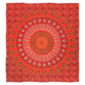 Přehoz Peacock červený 220 x 200 cm