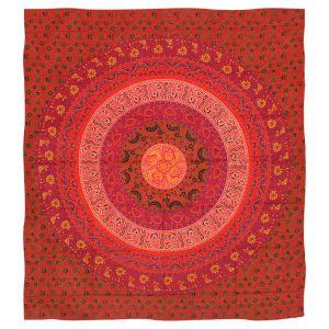 Přehoz Mandala Flower červený 225 x 200 cm