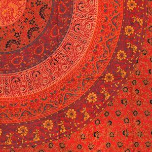 Indický přehoz na postel Mandala Flower červený 220 x 135 cm | SoNo spol. s r.o.