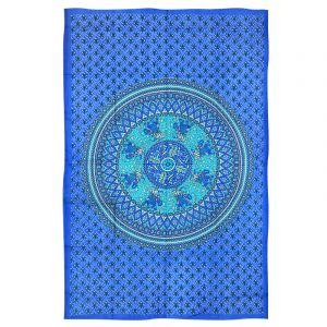 Přehoz Mandala Karavana azurový 200 x 135 cm