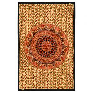 Přehoz Mandala Star oranžový 200 x 135 cm
