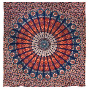Přehoz Peacock oranžový 220 x 200 cm