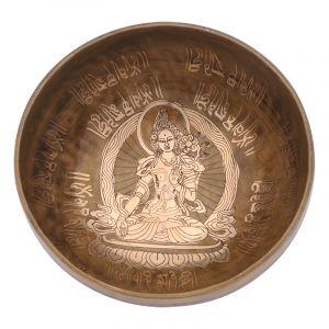Tibetská mísa 22,5 cm - 1420 g zdobená Tara