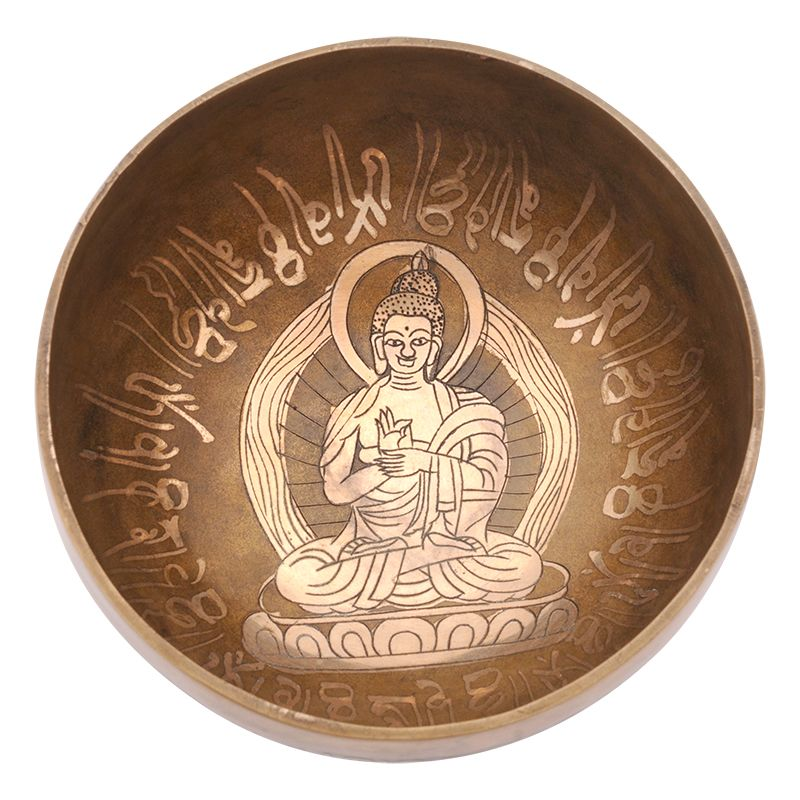 Tibetská mísa zdobená 593 g - průměr 15,5 cm Buddha | SoNo spol. s r.o.