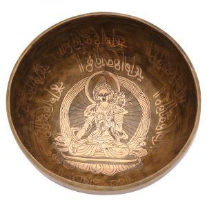 Tibetská mísa 20,5 cm - 1016 g zdobená Tara