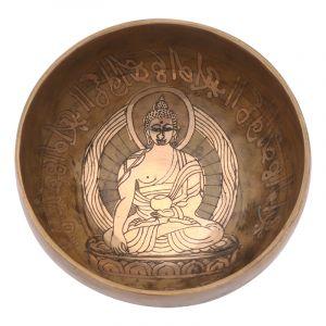 Tibetská mísa 13 cm - 523 g zdobená Buddha