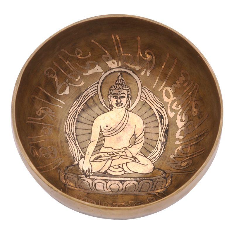 Tibetská mísa zdobená 543 g - průměr 14 cm Buddha   SoNo spol. s r.o.