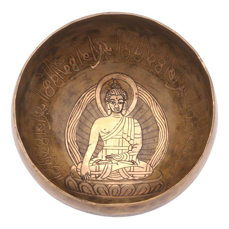 Tibetská mísa zdobená 710 g - průměr 15,5 cm Buddha | SoNo spol. s r.o.